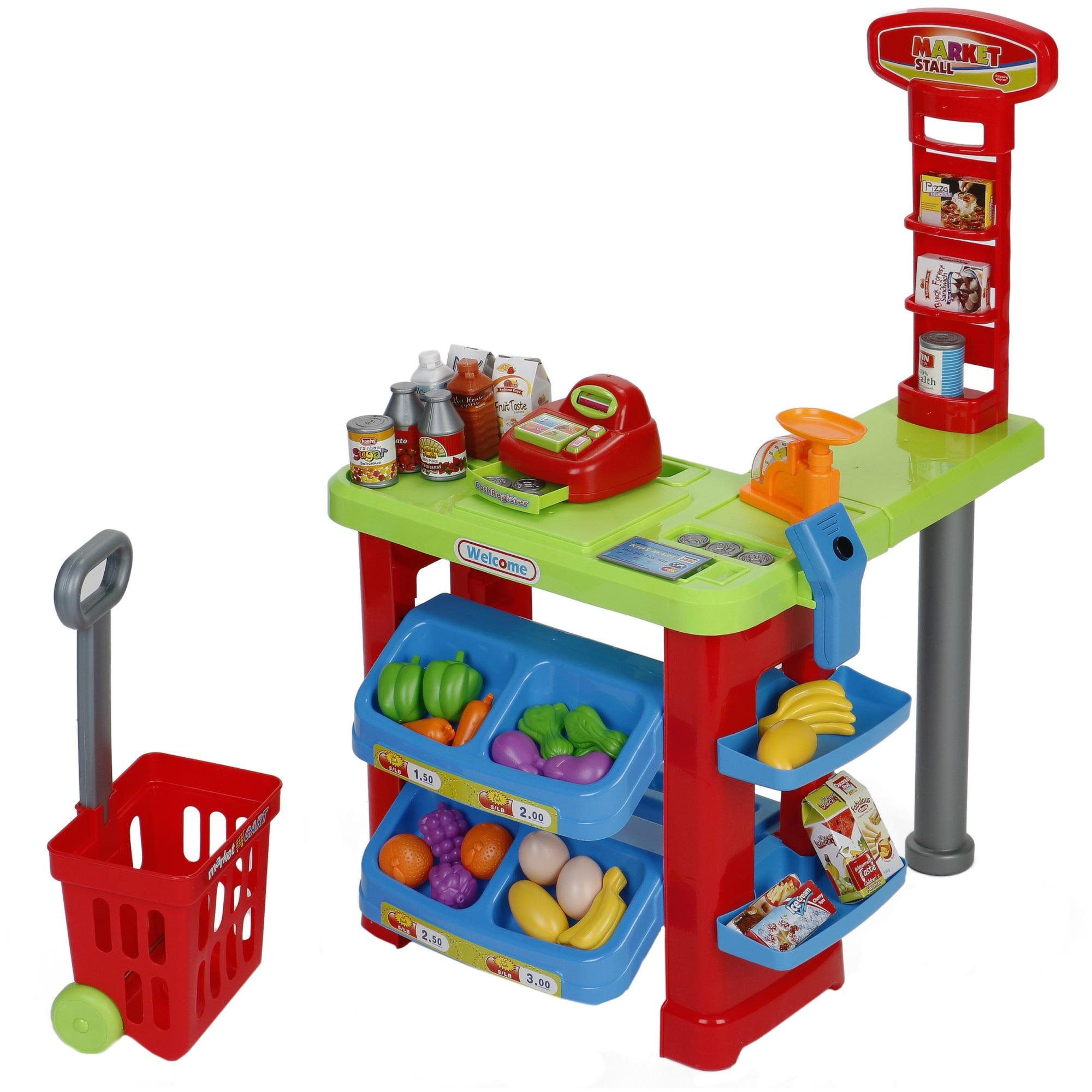 Fotografie Set M-Toys, Supermarket, cu casa de marcat, scanner, rafturi, lumini si sunete