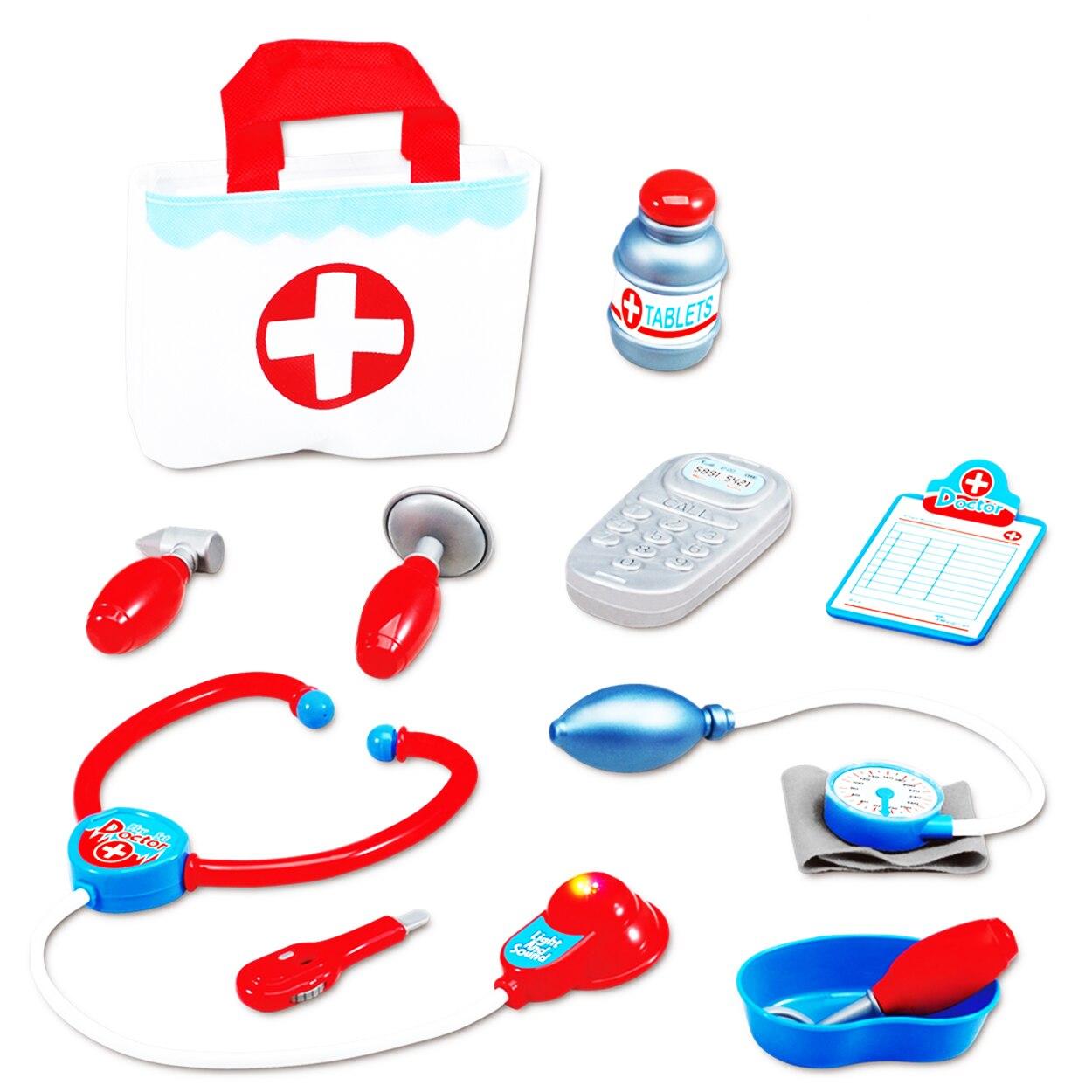 Fotografie Set M-Toys cu 11 accesorii si gentuta pentru micul doctor