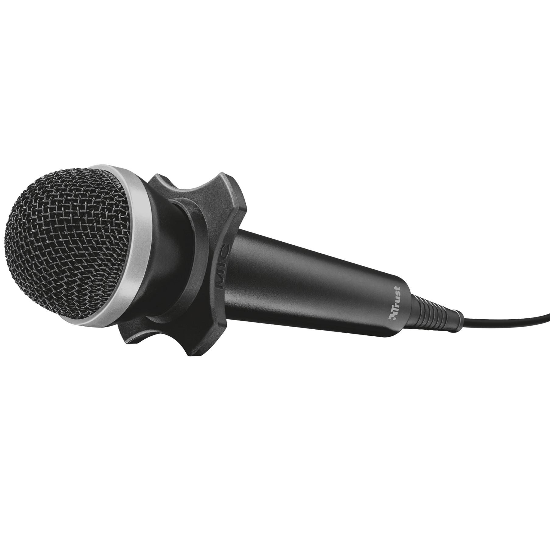 Fotografie Microfon Trust Starzz USB, Negru