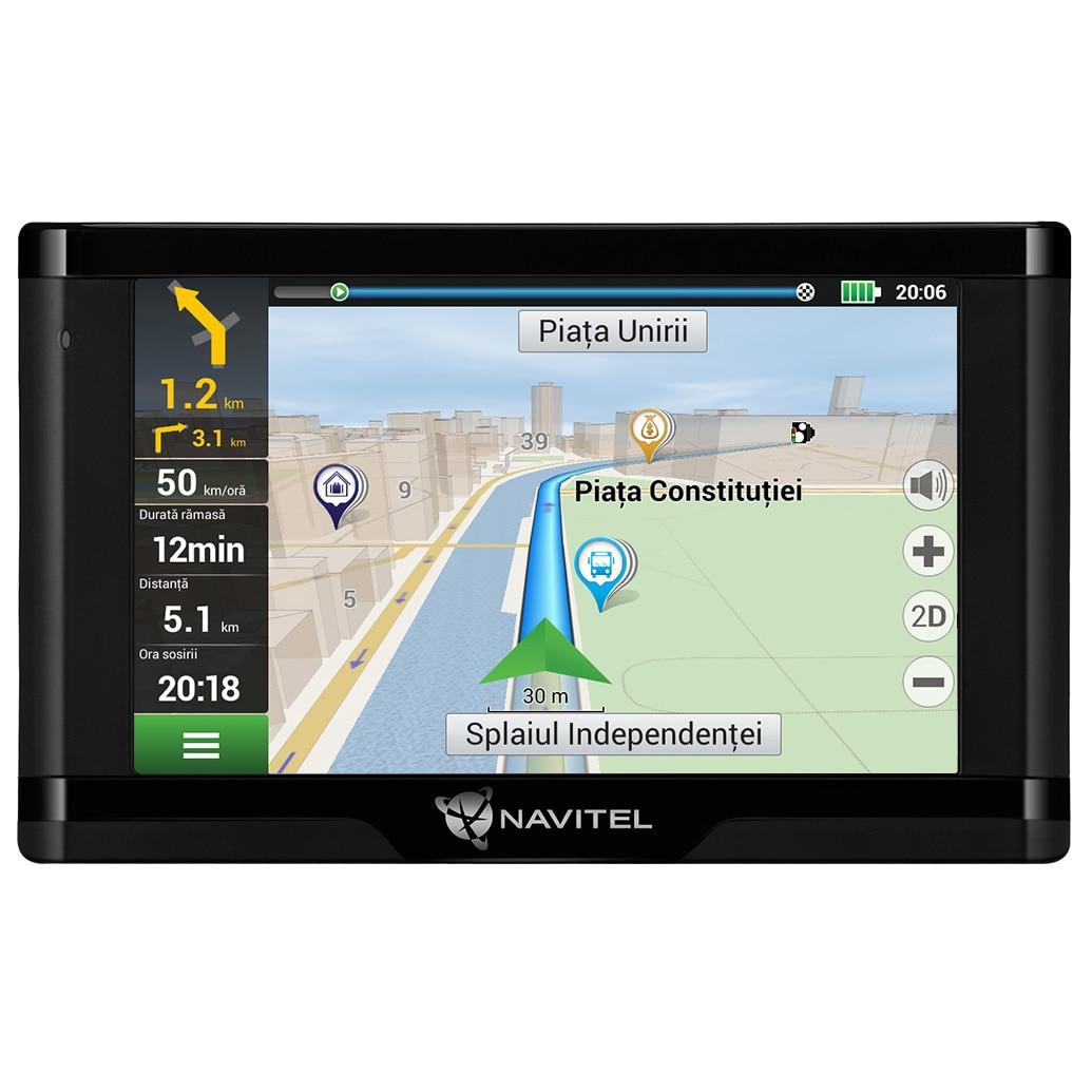 """Fotografie Sistem de navigatie GPS Navitel E500, ecran 5"""" harti FULL EU cu actualizare lifetime pentru 47 harti offline si suport de fixare magnetic"""