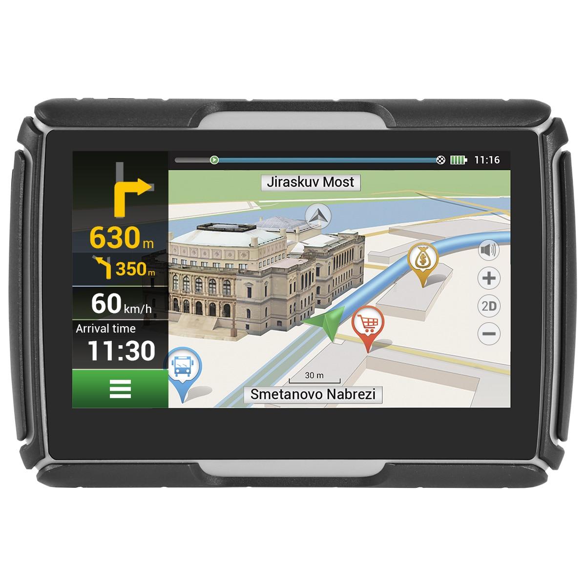 """Fotografie Sistem de navigatie GPS Navitel G550 Moto, ecran 4.3"""" cu GPS, IP-67 si supot pentru casti BT A2DP, actualizare lifetime pentru harti, suport de fixare pentru motociclete"""