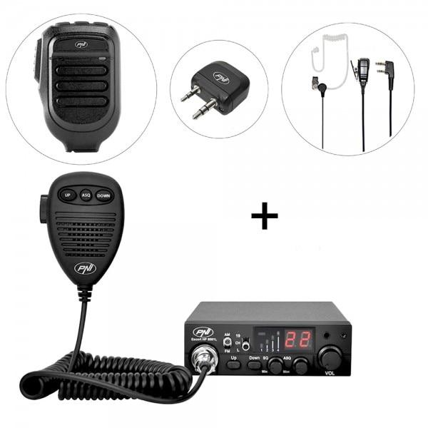 Fotografie Kit Statie radio CB PNI Escort HP 8001L ASQ + PNI BT-DONGLE 8001 + Microfon cu Bluetooth PNI BT-MIKE 8500