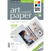 """ColorWay PMA650005MA4 ART series, matt hűtőmágnes (ART matte """"magnetic""""), 650 g/m2, A4, 5 lap Fotópapír"""