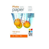 ColorWay PG180100A4 magasfényű (high glossy), 180 g/m2, A4, 100 lap Fotópapír