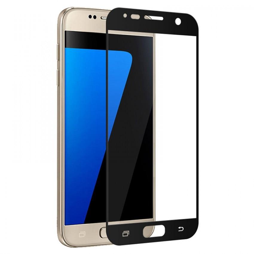 Fotografie Folie de protectie Tellur Tempered Glass, Full Cover pentru Samsung Galaxy J3 2017, Negru