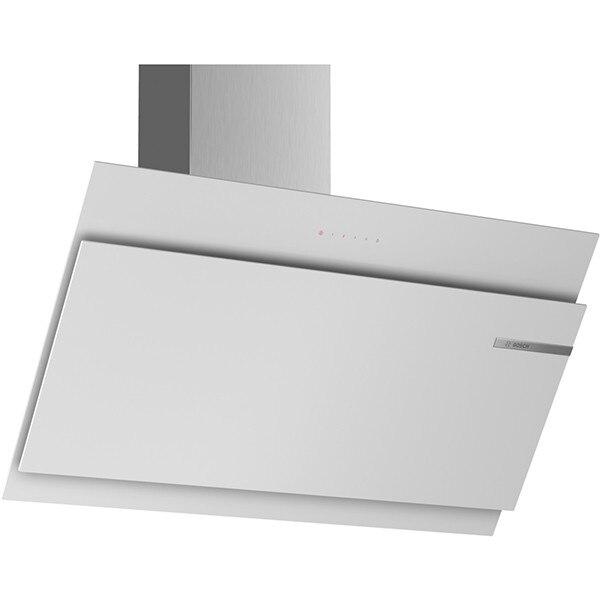Fotografie Hota incorporabila decorativa Bosch DWK97JM20, Afisaj digital cu TouchControl, Putere de absorbtie 730 mc/h, 1 motor, 90 cm, Sticla alba