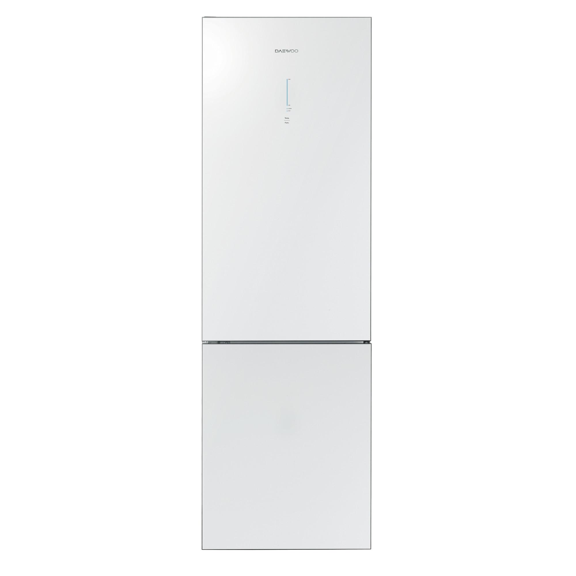 Fotografie Combina frigorifica Daewoo RN-T425RNW, 332l, Clasa A+, No Frost, H 189.8 cm, Sticla alba