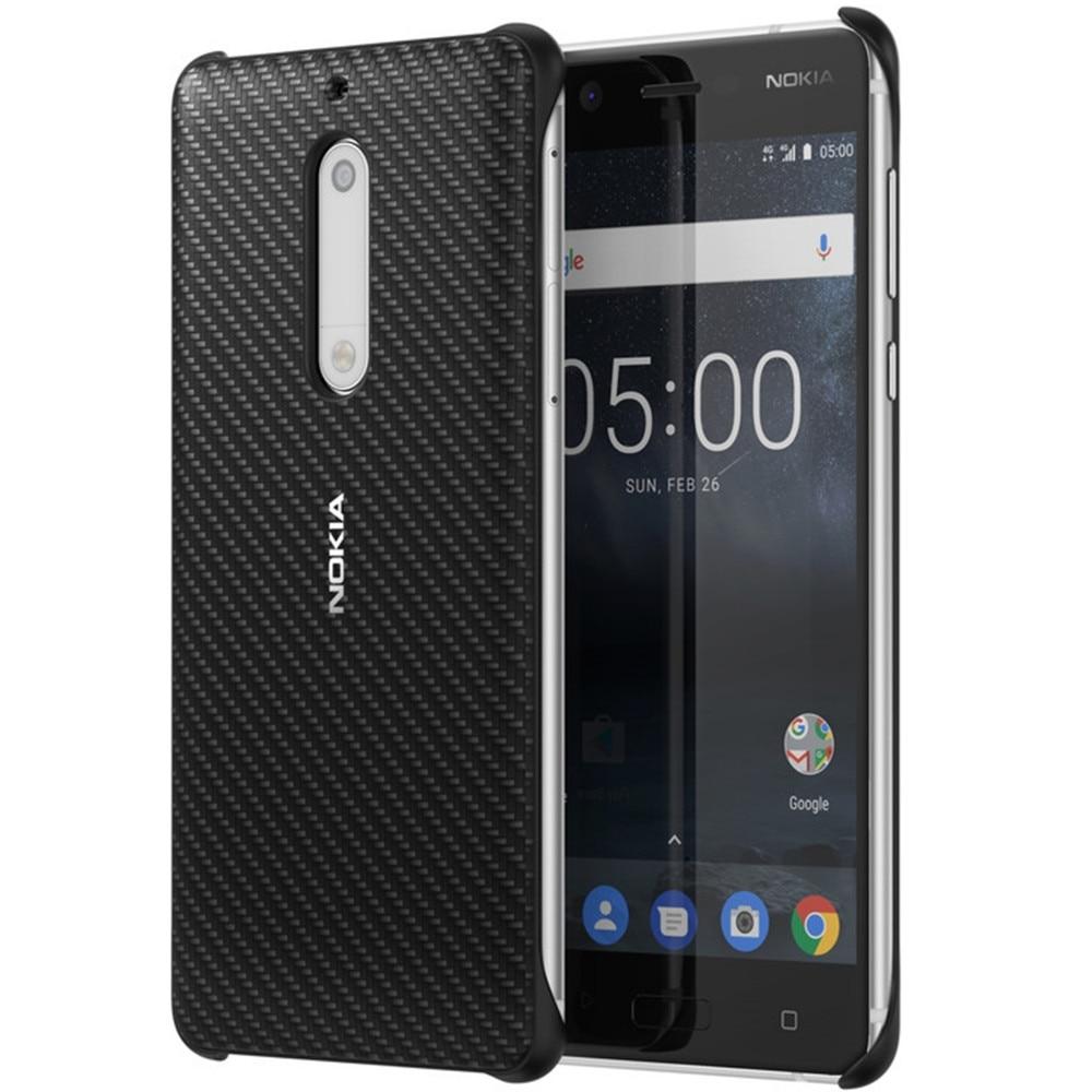 Fotografie Husa de protectie Carbon Fibre Design pentru Nokia 5, Negru