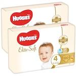 Пелени Huggies Elite Soft 4, 8-14 кг, 132 броя