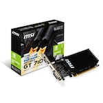 Видео карта MSI GeForce GT 710 2GB Low Profile, DDR3, 64bit, HDMI, DVI, VGA