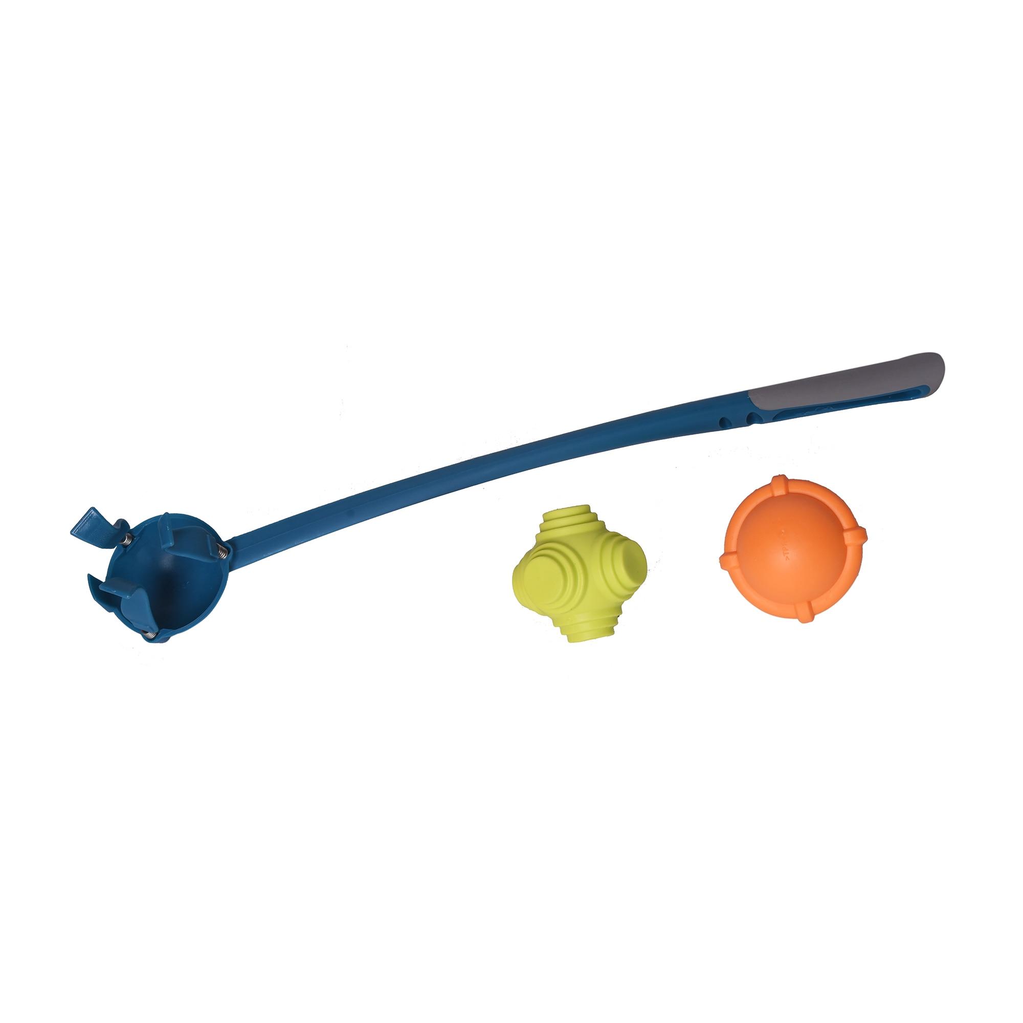 Fotografie Jucarie pentru caini Brown Dog, lansator (48cm) cu mingi (2xø 8cm)