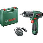 Акумулаторна бормашина Bosch EasyDrill 1200, 12 V, 1.5 Ah, 1650 RPM, акумулатор, зарядно устройство, двойна винтова глава, куфар за транспортиране'