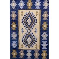 Szőtt szőnyeg Golden Daisy 100300A, 100 x 300 cm, Kék