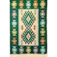 Szőtt szőnyeg Golden Daisy 6090V, 60X90 cm, Zöld