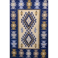 Szőtt szőnyeg Golden Daisy 100200A, 100 x 200 cm, Kék