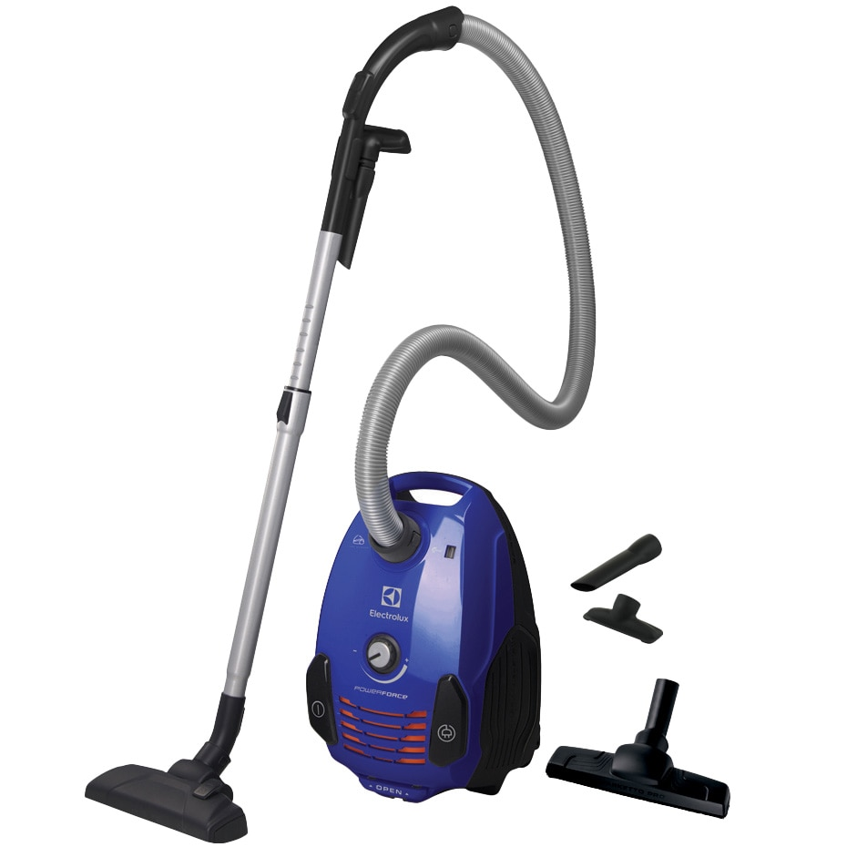Fotografie Aspirator cu sac Electrolux EPF62IS, 700W, Clasa A, filtru H12 lavabil, perie Parketto, Albastru