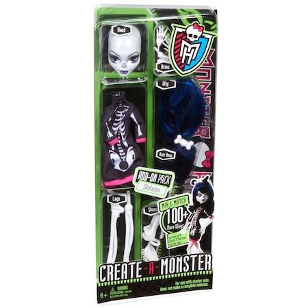 Аксесоари за кукла Monster High Създай чудовище Skeleton