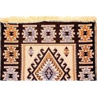 Golden Daisy Szőtt szőnyeg 140215M, 140 x 215 cm, Barna