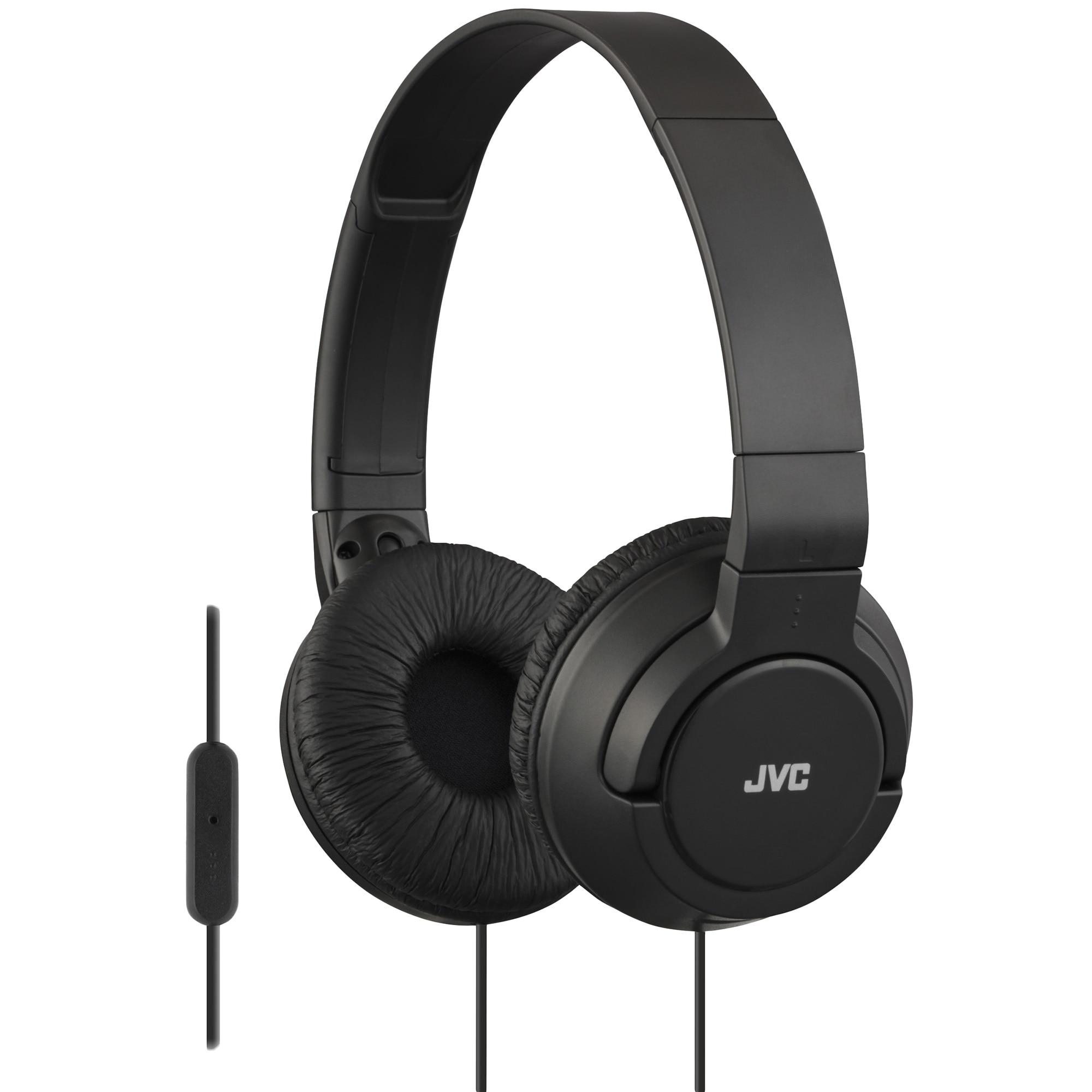 Fotografie Casti audio cu banda JVC HA-SR185-B, tip DJ, Ultrausoare, Control Telefon, Negru