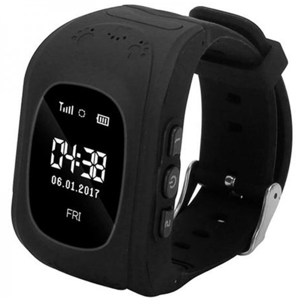 Fotografie Ceas Smartwatch copii iUni Kid60, Telefon incorporat, GPS, Bluetooth, Apel SOS, Activity and sleep, Black