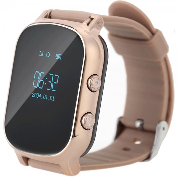 Fotografie Ceas Smartwatch cu telefon iUni Kid58, GPS, Gold