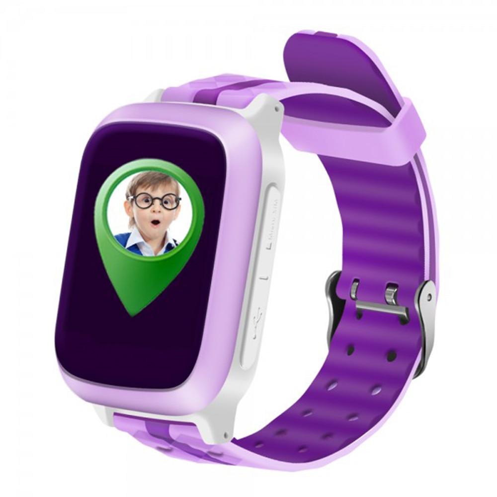 Fotografie Ceas Smartwatch cu telefon iUni Kid18, GPS, Pink