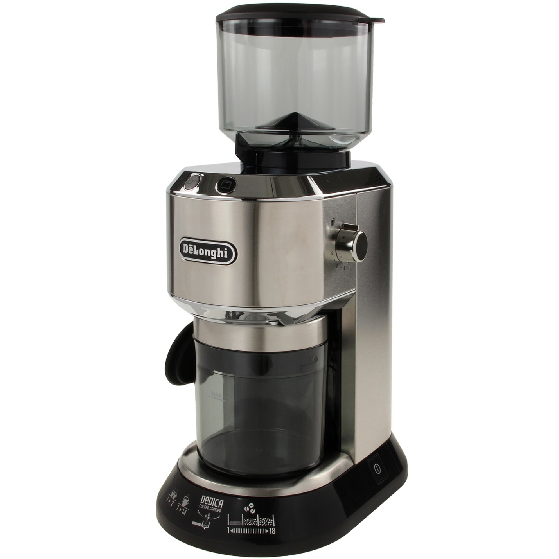 Fotografie Rasnita de cafea De'Longhi Dedica KG 520M, 150 W, 350 g, Argintiu / Negru