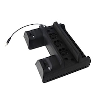 Stand cooler vertical Dobe multifunctional cu incarcare pentru PlayStation PS4 / Slim / Pro, negru