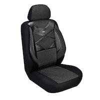 Комплект калъфи за седалки за кола Amio, тапицерия за предни и задни седалки ,Пълен комплект 8 части, Черни