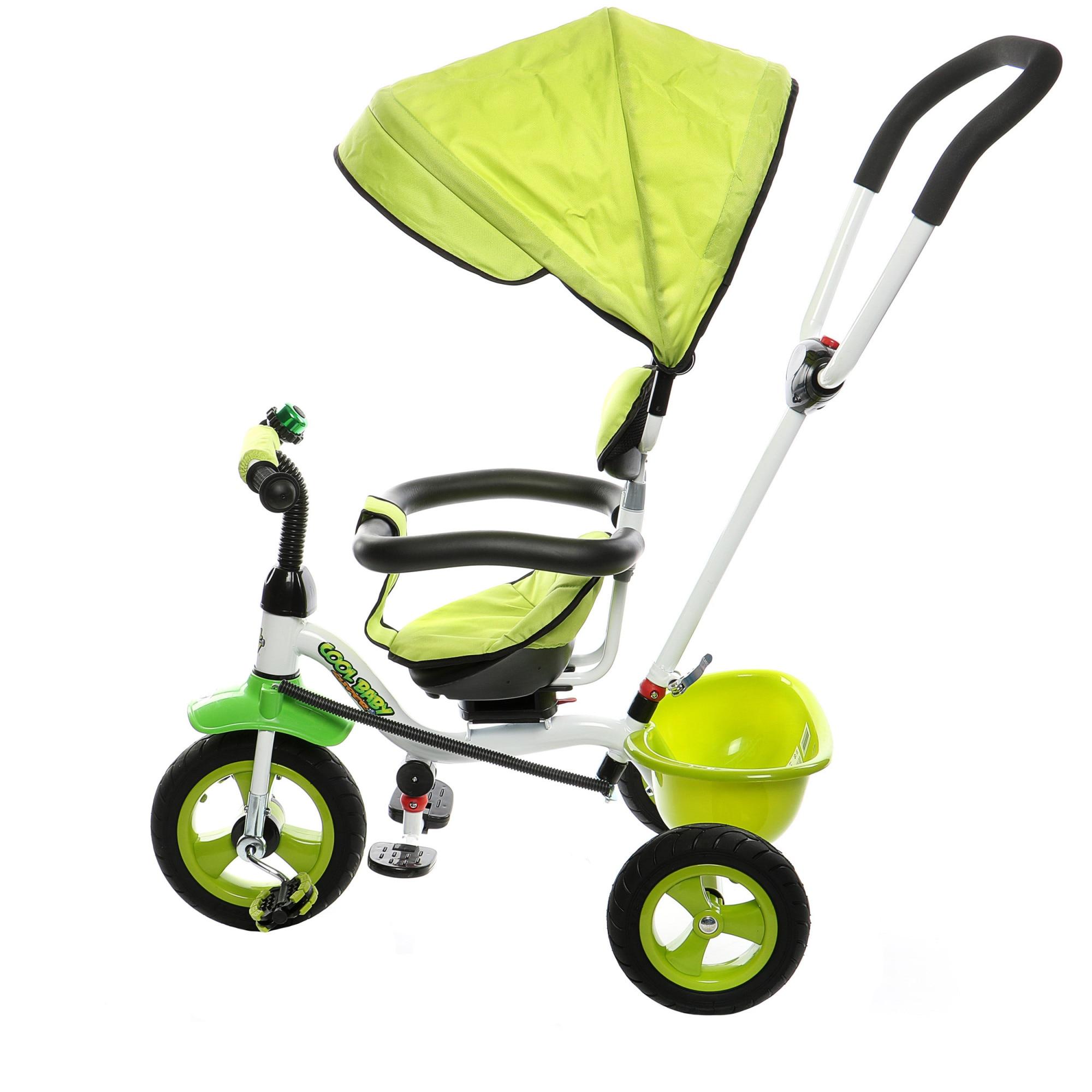 Fotografie Tricicleta multifunctionala Mappy Joy, Verde deschis