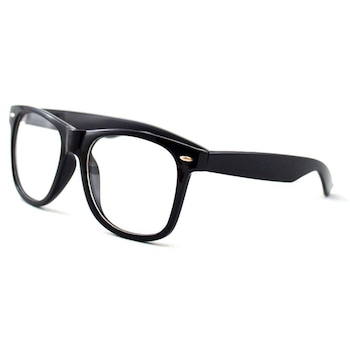 Ochelari tip rame cu lentile transparente Wayfarer Negru Passenger, Negru