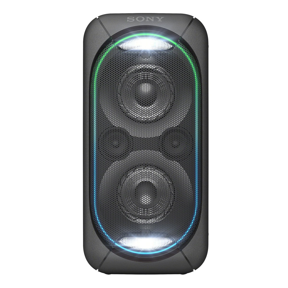 Fotografie Sistem audio High Power Sony GTKXB60B, Hi-Fi, Bluetooth, Extra Bass, Party chain, Baterie, Negru