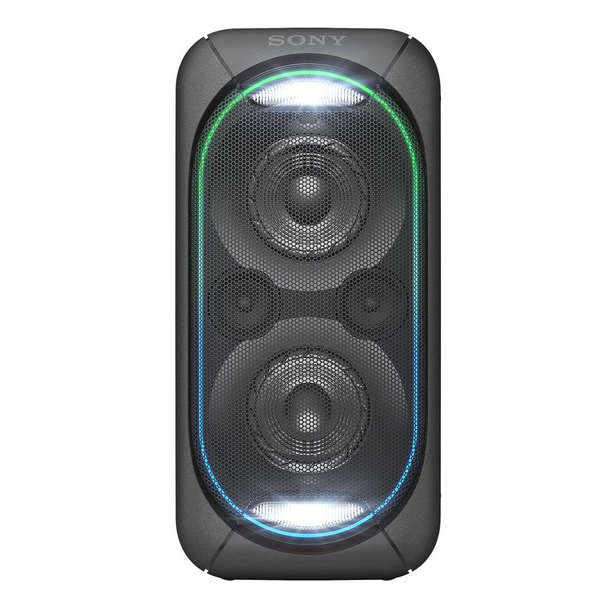 Fotografie Sistem audio High Power Sony GTKXB60B, Hi-Fi, Bluetooth, Extra Bass, Party chain, Baterie, Negru