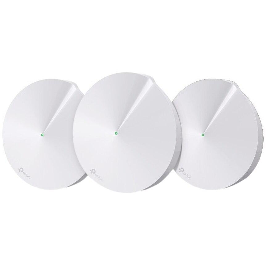 Fotografie Sistem Wi-Fi Mesh TP-Link Deco M5 (3-pack) AC1300 Gigabit cu acoperire completa pentru casa