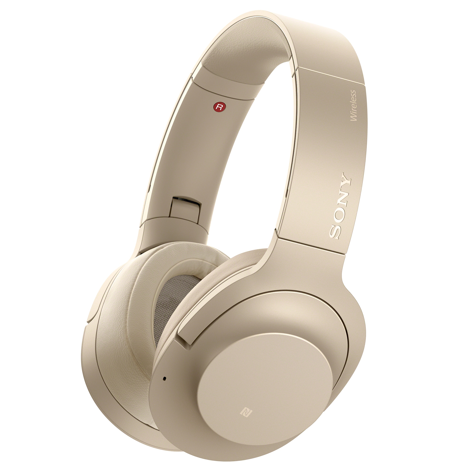 Fotografie Casti Sony WH-H900NN, Noise Canceling, Hi-Res, Wireless, Bluetooth, NFC, Crem