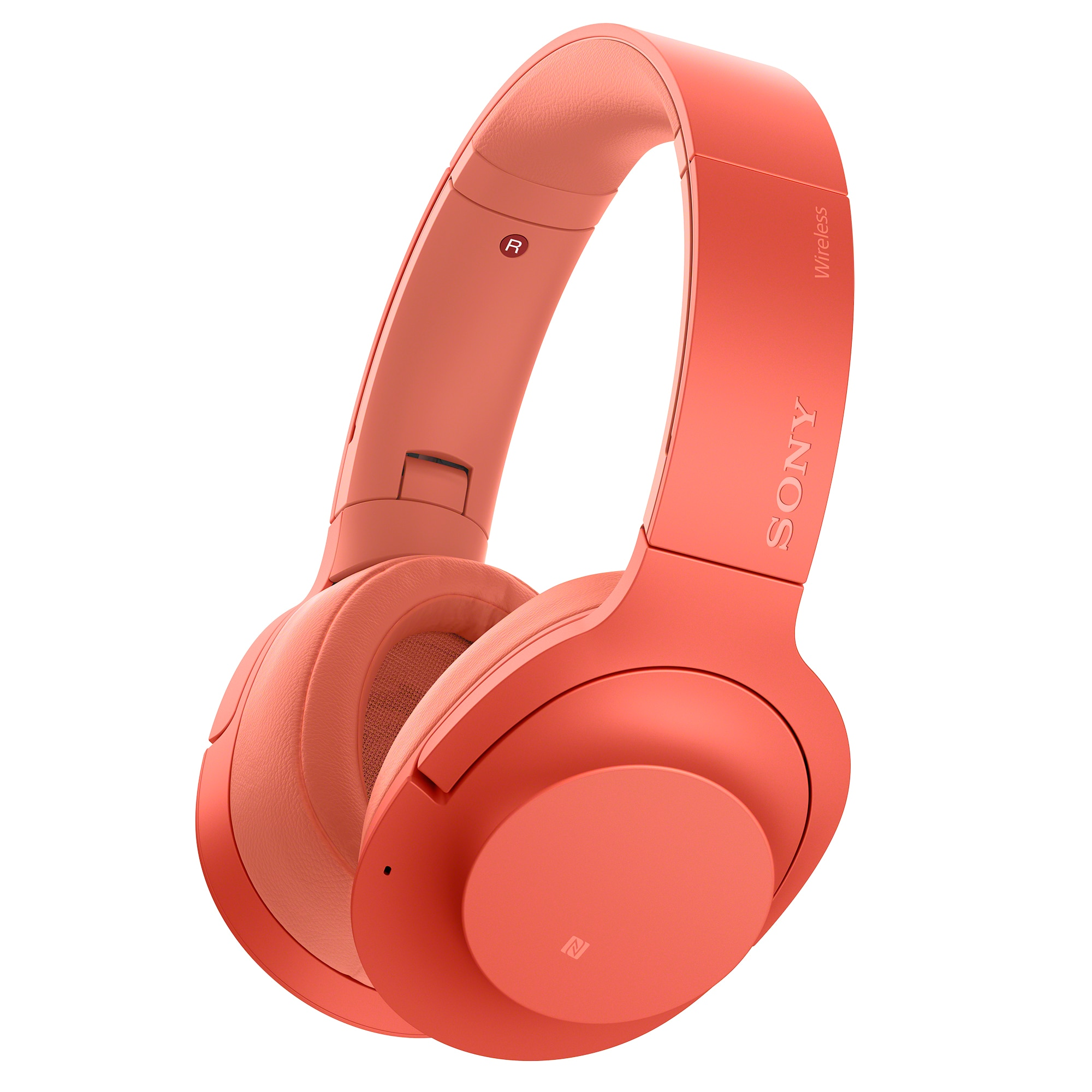 Fotografie Casti Sony WH-H900NR, Noise Canceling, Hi-Res, Wireless, Bluetooth, NFC, Rosu