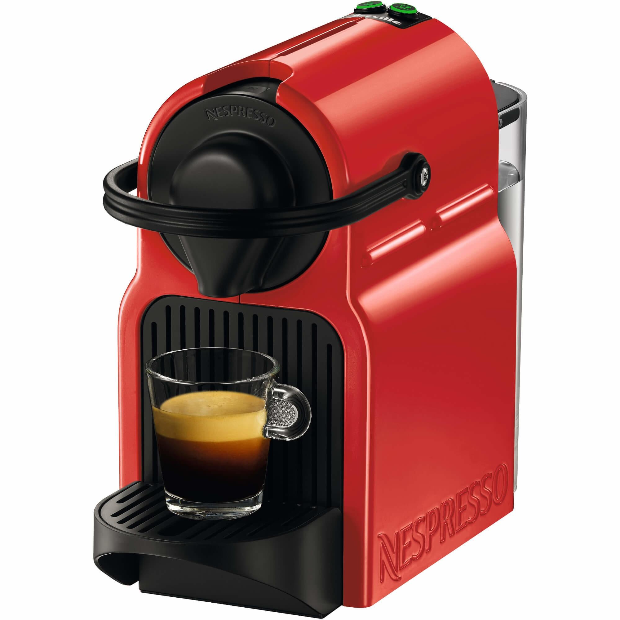 Fotografie Espressor Nespresso Inissia Red C40-EU-RE-NE3, 19 bari, 1260 W, 0.7 l, Rosu + 14 capsule cadou
