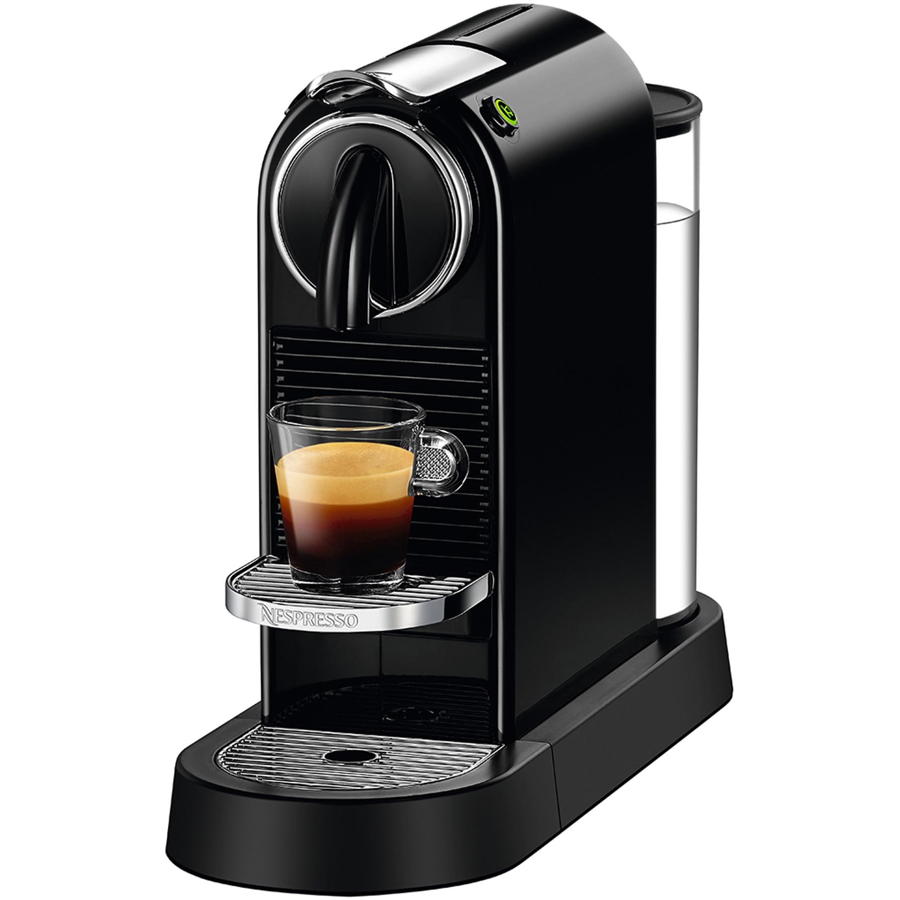 Fotografie Espressor Nespresso CitiZ Black D112-EU-BK-NE, 19 bari, 1260 W, 1 l, Negru + 14 capsule cadou
