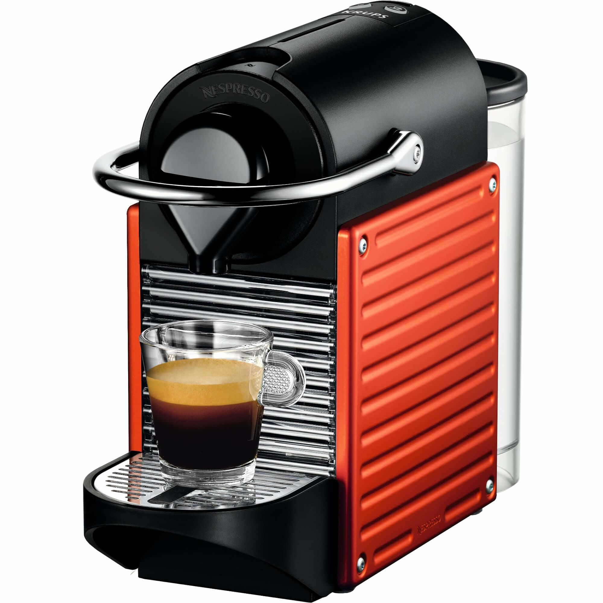 Fotografie Espressor Nespresso Pixie Red C60-EU-RE-NE, 19 bari, 1260 W, 0.7 l, Rosu + 14 capsule cadou