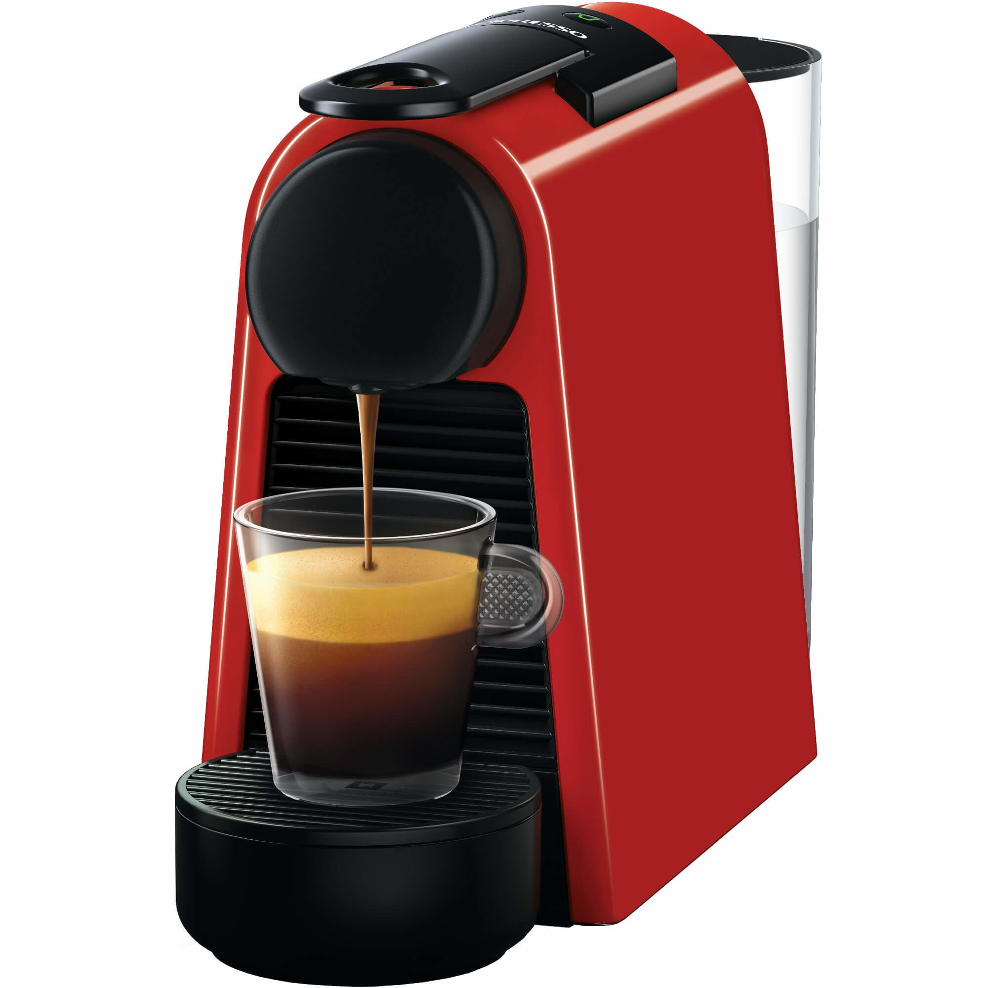 Fotografie Espressor Nespresso Essenza Mini Ruby Red D30-EU-RE-NE1, 19 bari, 1260 W, 0.6 l, Rosu + 14 capsule cadou