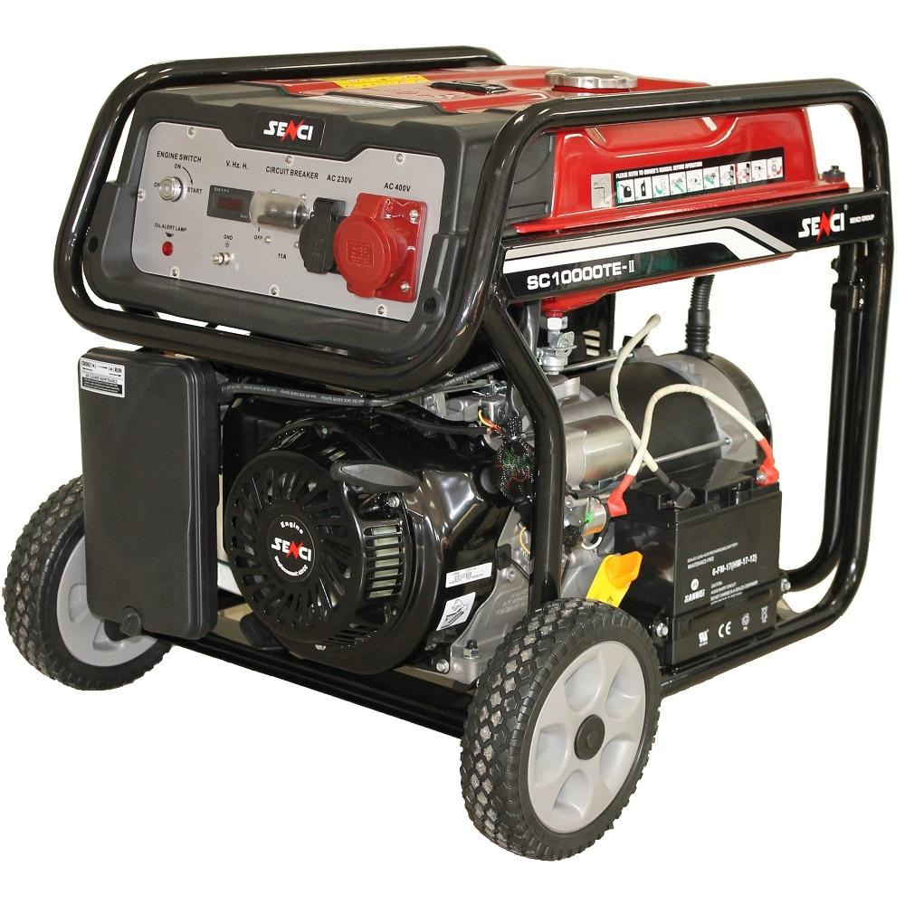 Fotografie Generator de curent Senci SC-10000TE TOP, 8500W, 400V - AVR inclus, motor benzina cu demaraj electric