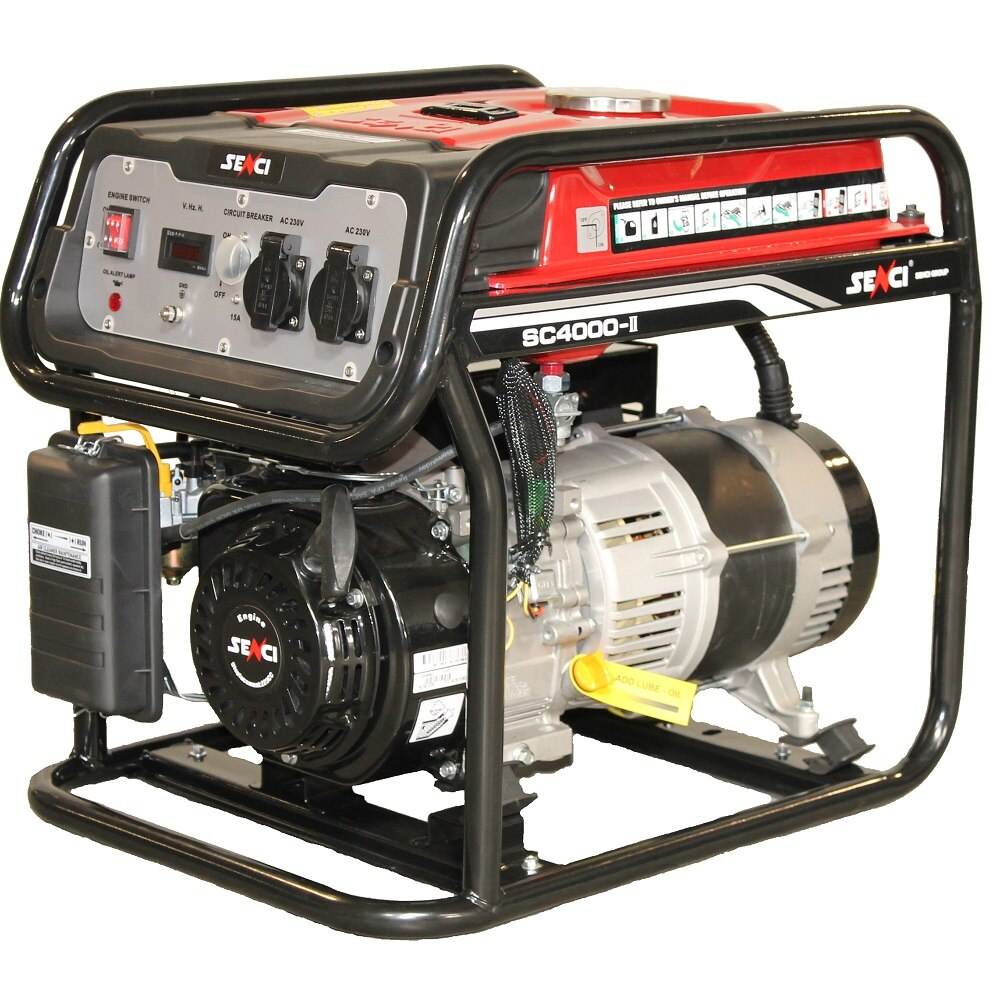 Fotografie Generator de curent Senci SC-4000 TOP, 3800 W, 230 V, stabilizator de tensiune (AVR), 15 l benzina, 13.5 h autonimie maxima