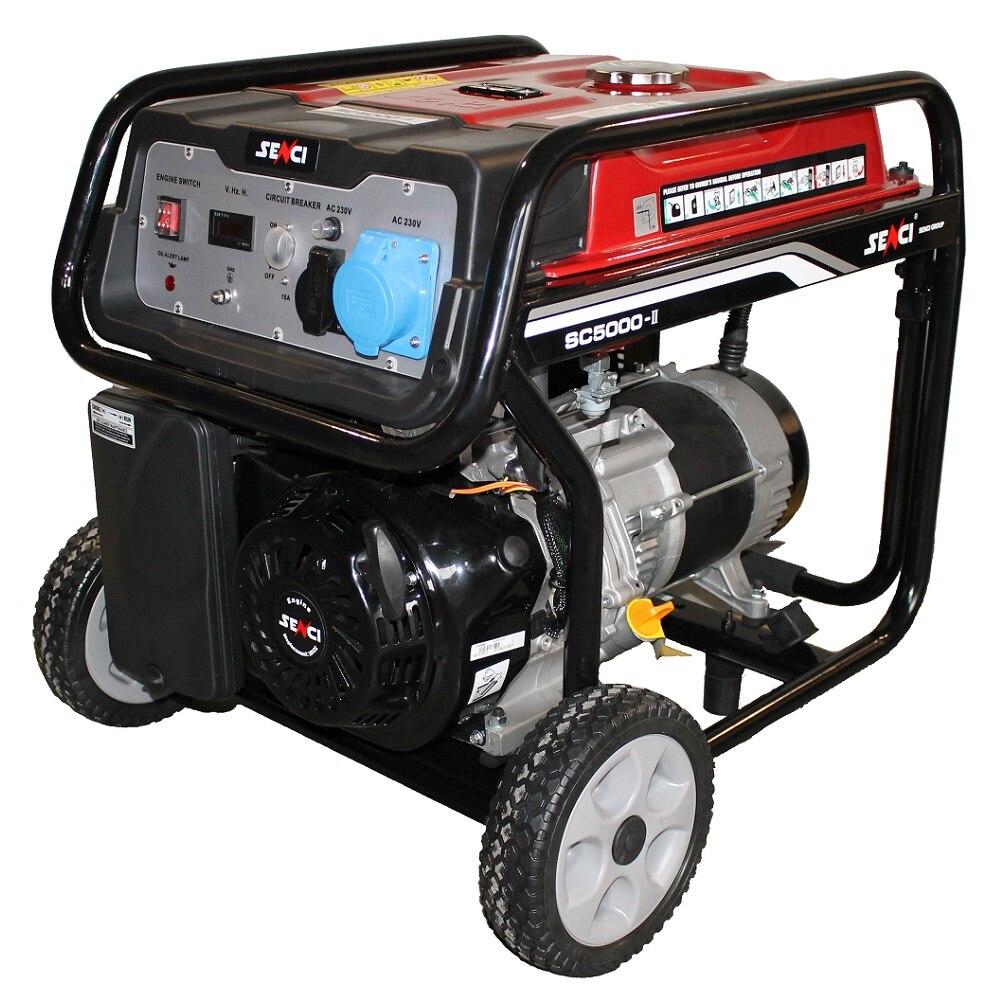 Fotografie Generator de curent Senci SC-5000 TOP, 4500W, 230V - AVR inclus, Motor benzina