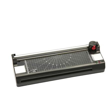 Set laminator A3, trimmer incorporat si rotunjitor colturi, OLYMPIA A340 Combo, 80-125 microni, negru