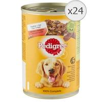 Hrana umeda pentru caini Pedigree Adult, Vita, 24x400g