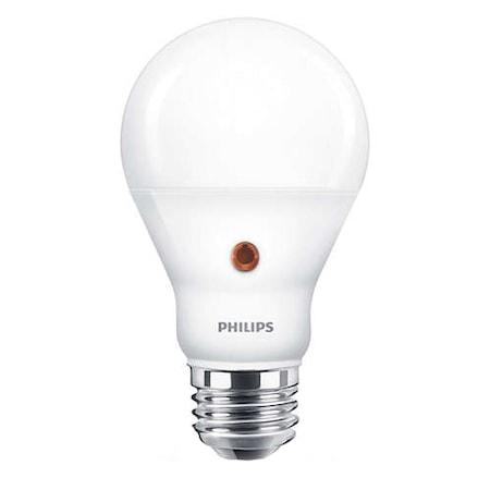Philips Lakossági automata fényérzékelős LED izzó, körte forma, 7.5-60W, E27, 4000K, 806lm