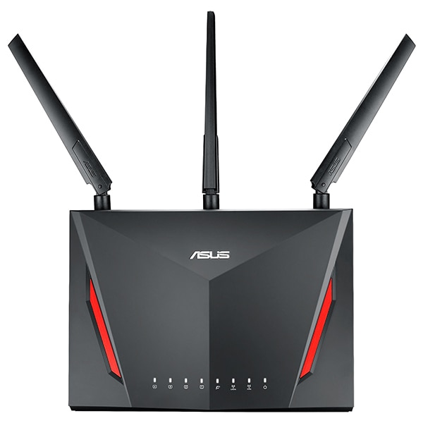 Fotografie Router Wireless Asus RT-AC86U, AC2900, AiProtection, Dual-Band, Gigabit, AiMesh, suport 3G/4G, USB 3.0