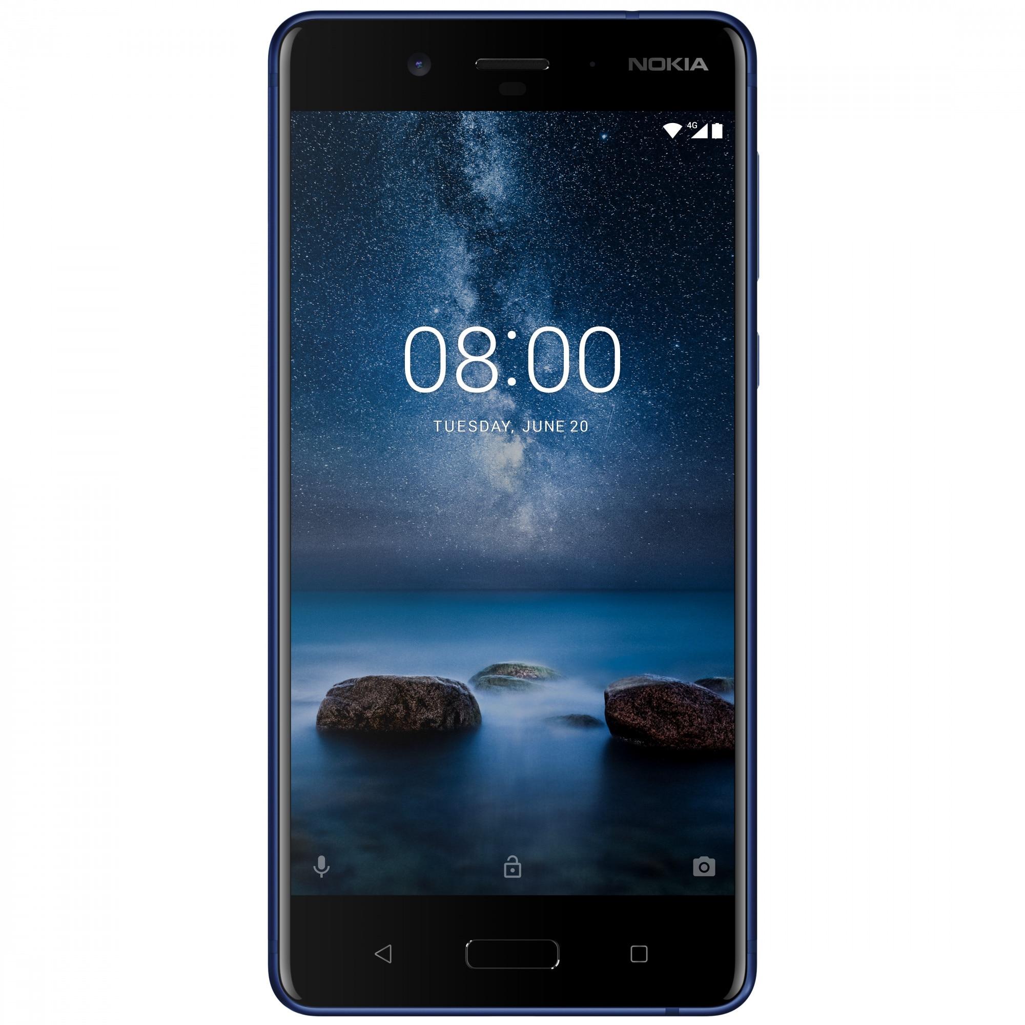Fotografie Telefon mobil Nokia 8, 64GB, Polished Blue