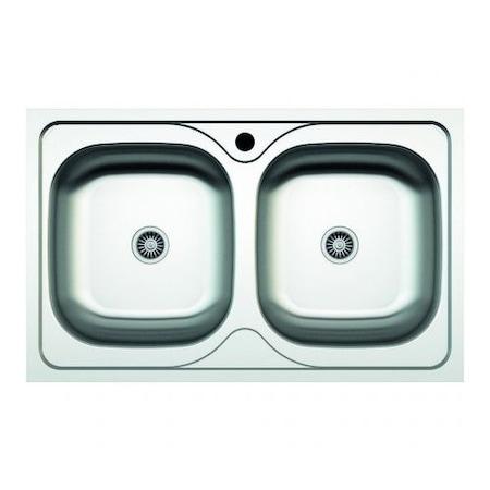Konyhai mosogató Z-INOX ZLN-2975, beépíthető, rozsdamentes acél, 50x80 cm