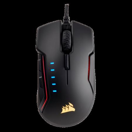 Мишка Gaming Corsair Glaive RGB, Оптичен сензор 16000DPI, Черна